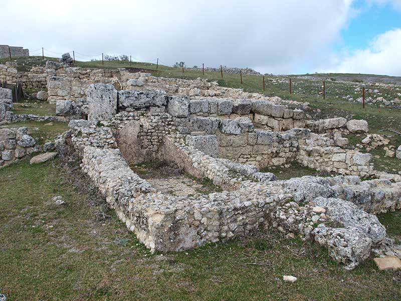 The baths area