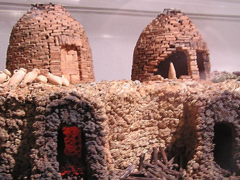 Model of Roman kilns at Cadiz