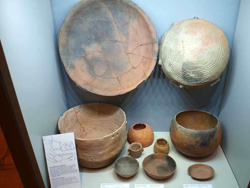 Pottery from Los Millares (Almeria Archaeological Museum)