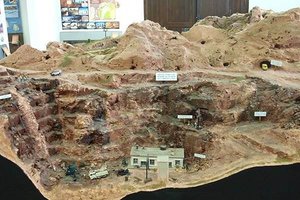 Model of the mine in the 1960's