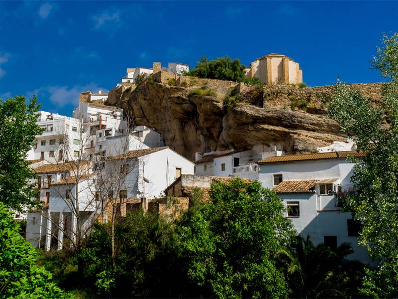 White Villages in Andalucia | Setenil de las Bodegas famous for cave dwellings