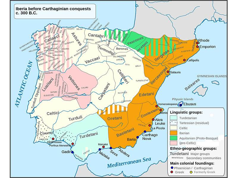 Extent of Iberian culture (courtesy Wikipedia)