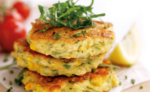 Courgette fritters with Tarragon aïoli mayonnaise